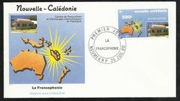 N.C.   Lettre Premier Jour Nouméa Le 25/07/1990 Le N°598 La Francophonie       TB - Languages
