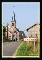 08  SAINTE  MARIE    ...l'entrée De La Commune Et L'eglise - France