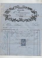 Modes Bonneveaux Place Bellecour  Lyon 1877  Franc St Rambert Bugey - Vestiario & Tessile