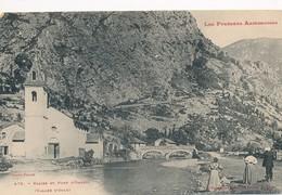 CPA - France - (09) Ariège - Eglise Et Pont D'Orgeix - France