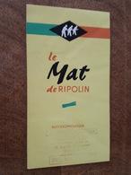 Publicité - Peinture Ripolin, Le Mat, Glycerophtalique échantillon De Couleurs à L'intérieur, Tampon Clignancourt - Pubblicitari