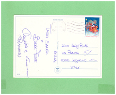 2004 FINLAND - SUOMI LAPLAND POSTCARD WITH 1 STAMP TO ITALY - Finland