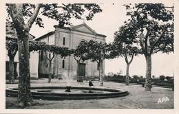 CPSM - France - (09) Ariège - Saverdun - Place Roussille Et Temple - Other Municipalities