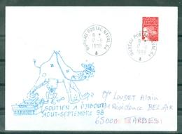 MARCOPHILIE - BSM GARONNE SOUTIEN A DJIBOUTI AOUT - SEPTEMBRE 98 Cachet BUREAU POSTAL NAVAL 64 Du 17 - 8 - 98 - Posta Marittima