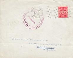 Env Affr Y&T FM 12 Obl OMEC SARREBOURG Du 23.9.1958 Adressée à Strasbourg - Marcofilie (Brieven)
