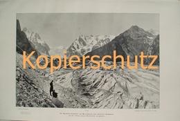 251-2 Sella: Karakorum Kaukasus Riesendruck 1902!! - Historische Dokumente