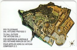 VATICAN A-097 Magnetic Telecom - Map, View Of Vatican - MINT - Vatican