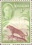 USED  STAMPS  Malawi Nyasaland - Leopard  -1947 - Malawi (1964-...)