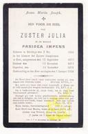 DP EZ Pasidea Impens - Zr. Julia ° Sleidinge 1854 † 1908 / Klooster Zrs. Josephienen Gent - Devotion Images