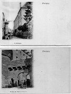 """FLAVIGNY  """"L'Abbaye Et Porte Du Val """" Lot De 2 Cartes - Autres Communes"""