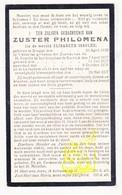 DP EZ Elisabeth Isselée - Zr. Philomena ° Brugge 1850 † Ledegem 1927 / Klooster Zrs. H. Familie Kortrijk - Images Religieuses