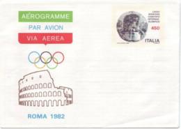 Italia, 1982, Aerogramma, Comitato Internazionale Olimpico, L. 450, Nuovo - Interi Postali