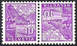 Schweiz Suisse 1935: Kehrdruck Tète-bêche 10c+10c Château De Chillon  Zu+Mi-No. K 29 ** Postfrisch MNH (Zu CHF 7.50) - Kehrdrucke