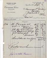 ANGOULEME CIRONNEAU FRERES EPICERIE EN GROS MAISON A MONTMOREAU A MR BORDAGE A JARNAC ANNEE 1914 - France