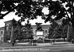 Cartolina Fontanellato Scuole Comunali E Monumento - Parma