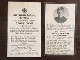 Sterbebild Wk1 Ww1 Bidprentje Avis Décès Deathcard IR16 Chaulnes Vermandovillers RIR18 - 1914-18