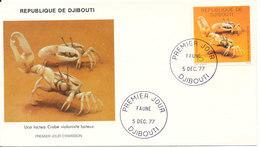 Djibouti  FDC 5-12-1977 Crab With Cachet - Djibouti (1977-...)