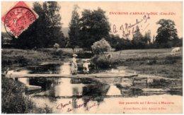 21 Environs D'ARNAY-le-DUC - Une Passerelle Sur L'Arroux à Maizières - Aignay Le Duc