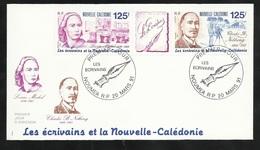 FDC Lettre Premier Jour Nouméa Le 20/03/1991 Bande N° 608A Ecrivains De N.C. Louise Michel Et Charles B. Nething      TB - Schrijvers