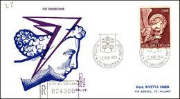 """Vatican 1968, FDC Cover """"Archangel Gabriel""""  W./postmark """"Citta Del Vaticano"""" - FDC"""