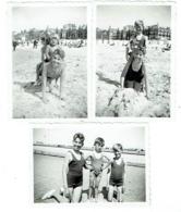 Foto/Photo. Ostende 1936. Jeunes Garçons En Maillot. Lot De 3 Photos. - Anonymous Persons