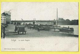* Liège - Luik (La Wallonie) * (Wilhelm Hoffmann Dresde 4568) Le Pont Maghin, Canal, Quai, Port, Bateau, Péniche, TOP - Liege