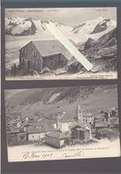 Suisse - Lot De 2 CP - Valais - Aletschgletscher, Pavillon Hotel, Bourg St-Pierre - VS Valais