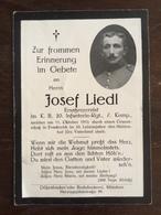 Sterbebild Wk1 Ww1 Bidprentje Avis Décès Deathcard IR20 11. Oktober 1915 - 1914-18