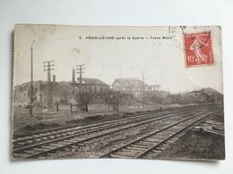 AK CP Henin-Lietard Henin Lietard Apres La Guerre Fosse Mulot - War 1914-18