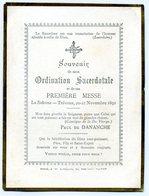 Souvenir De Mon Ordination Sacerdotale , La Sidoine TREVOUX Le 20-21 Novembre 1892 P De Dananche - Images Religieuses