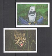 P332 GUYANA FLORA & FAUNA WILD ANIMALS RARE & ENDANGERED WILDLIFE 2BL MNH - Hiboux & Chouettes