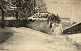 LANGRES REMPARTS EFFET DE NEIGE - Langres