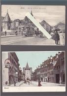 Suisse - Lot De 2 CP - Basel - Tramwayattelage, Animation - Kunzli - BS Bâle-Ville