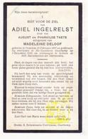 DP Adiel Ingelrelst / Taets ° Oedelem Beernem 1897 † St.Godelieve Oostkamp 1934 X Madeleine Deloof - Images Religieuses