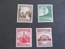 DR Nr. 665-668, 1938, Deutsches Turnfest, Postfrisch/MNH/**, BS - Nuevos