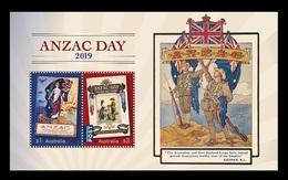 Australia 2019 Mih. 4930/31 (Bl.444) World War I. Anzac Day. Planes. Ships MNH ** - 2010-... Elizabeth II