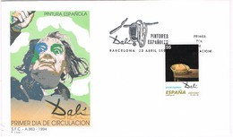 32516. Carta F.D.C. BARCELONA 1994. Pintor Salvador DALÍ. La Cesta De Pan - FDC
