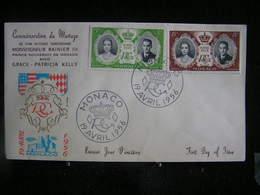 M-An /  Lot De 13 (envoppes-Premier Jour D'émision) FDC Monaco - Mariage Rainier III Et Grace Kelly - 19 Avril 1956 - - Cartas
