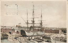 R022476 Portsmouth Dockyard And H. M. S. Victory. 1929 - Cartes Postales