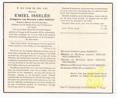 DP Meester Goudborduurder - Emiel Isselée ° Brugge 1870 † Oostkamp 1949 X Louise Margot / Meulebroeck DeJonghe Lust - Images Religieuses