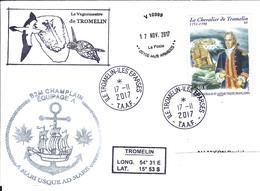 12946 B2M CHAMPLAIN - île TROMELIN - ÉPARSES. Tàd Du CHAMPLAIN - French Southern And Antarctic Territories (TAAF)