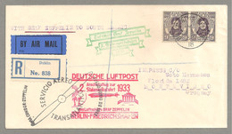 ZEPPELIN 2. SÜDAMERIKAFAHRT 1933 ZULEITUNG IRLAND IRELAND EIRE DUBLIN - Poste Aérienne