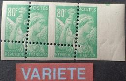R1949/523 - 1944 - TYPE IRIS - N°649 NEUFS** BdF ➤➤➤ CACHET : ATELIER TP - SUPERBE VARIETE ➤➤➤ PIQUAGE OBLIQUE A CHEVAL - Variétés: 1941-44 Neufs