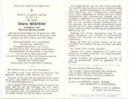 Devotie - Doodsprentje Overlijden - Ere Burgemeester - Oudstrijder Hilaire Martens - Lovendegem 1908 - 1980 - Décès