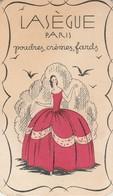 Carte-parfumée : Publicitaire :  LASEGUE - Poudres, Crèmes, Fards ( 8,8cm X 5,2cm ) - Perfume Cards