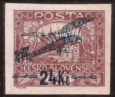 Checoslovaquia - Fx. 3480 - Yv. Ae. 2 S/c Avión - 24 Kc. - Marrón Rojizo - (*) - * - Poste Aérienne