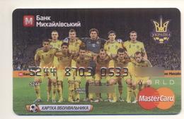Credit Card SPORT Football Soccer Team Bankcard Mikhaylovskiy Bank UKRAINE MasterCard Expired - Cartes De Crédit (expiration Min. 10 Ans)