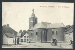 +++ CPA - HAINE SAINT PIERRE - La Louvière - Place De L'Eglise - Attelage   // - La Louvière