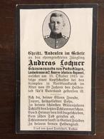 Sterbebild Wk1 Ww1 Bidprentje Avis Décès Deathcard RIR2 Oktober 1915 Aus Puchschlagen - 1914-18