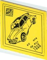 AUTOCOLLANT - LILLE - VOITURE RENAULT 4CV - 1986 - - Autocollants